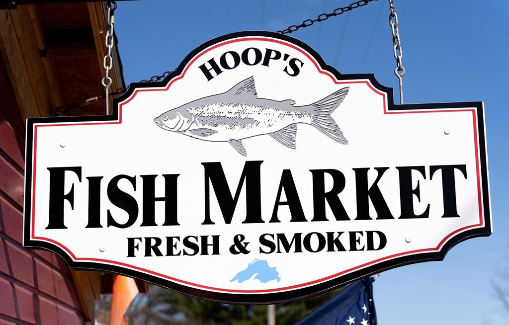 Hoops Fish Market Sign